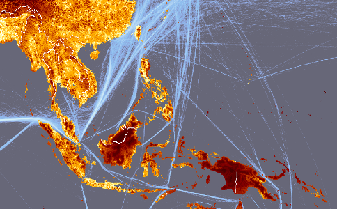 Forest Observations - International shipping routes map to us